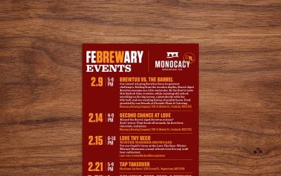 Monocacy Brewing Company FeBREWary Events
