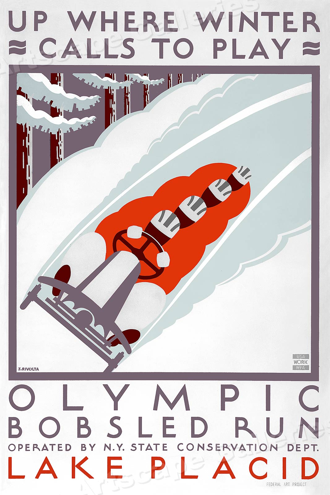 S Olympic Bobsled Poster
