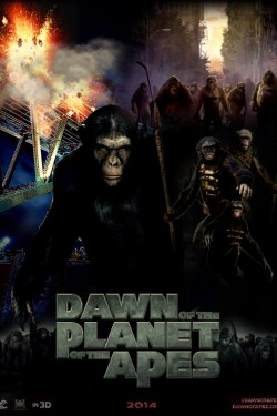 Dawn of the planet of the apes poster (fan-made)