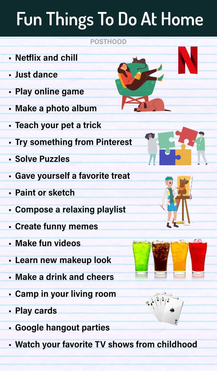 Feeling bored at home in quarantine? Try these creative and fun things to do when getting bored at home during the lockdown. Enjoy your Me-Time.