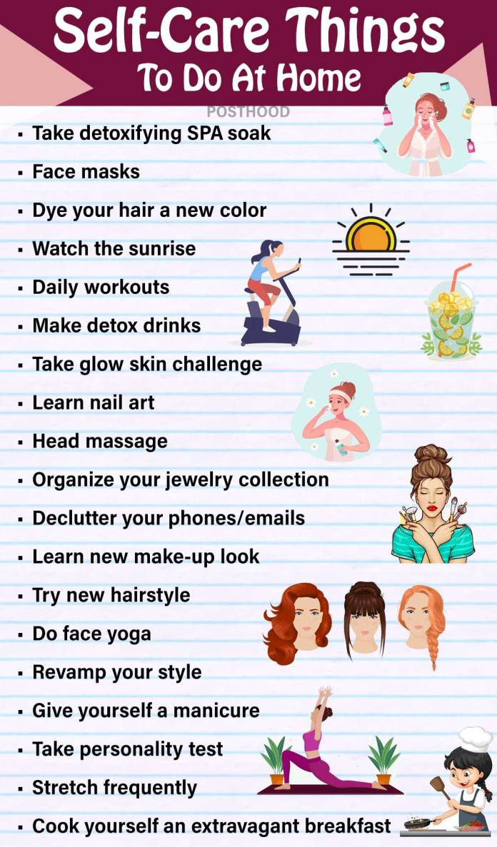 Why to feel bored at home when you have so many things to do? It's a great time to self-care yourself especially when you are a working woman. Best self-care thing to do at home.