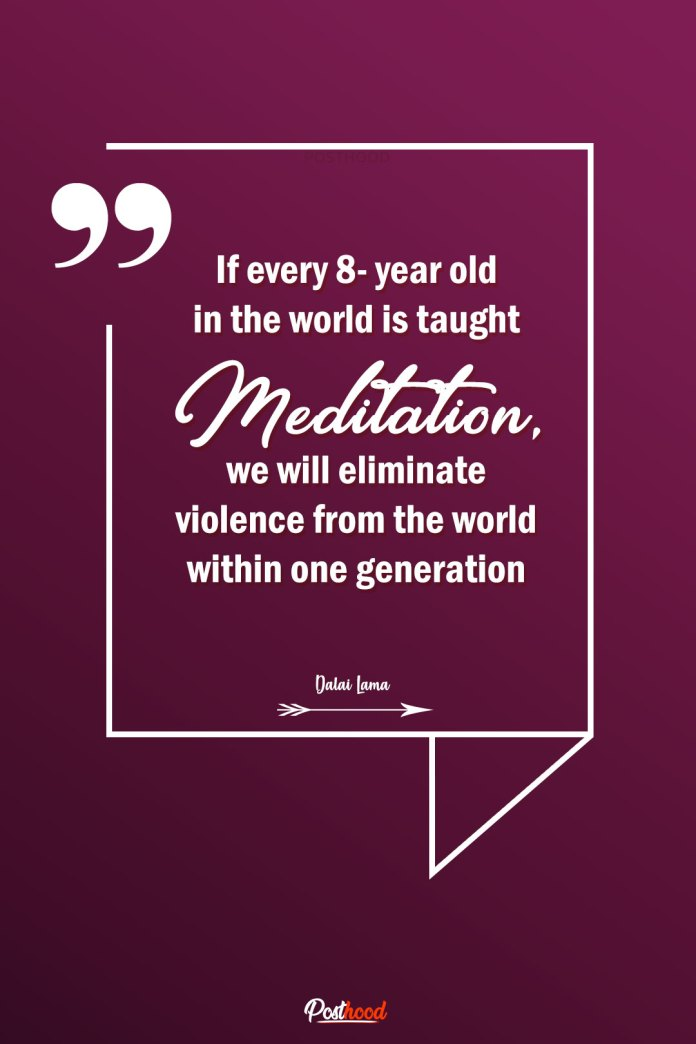 Take inspiration to start meditation from this Buddhist story and quotes about peace, calmness, and happiness.