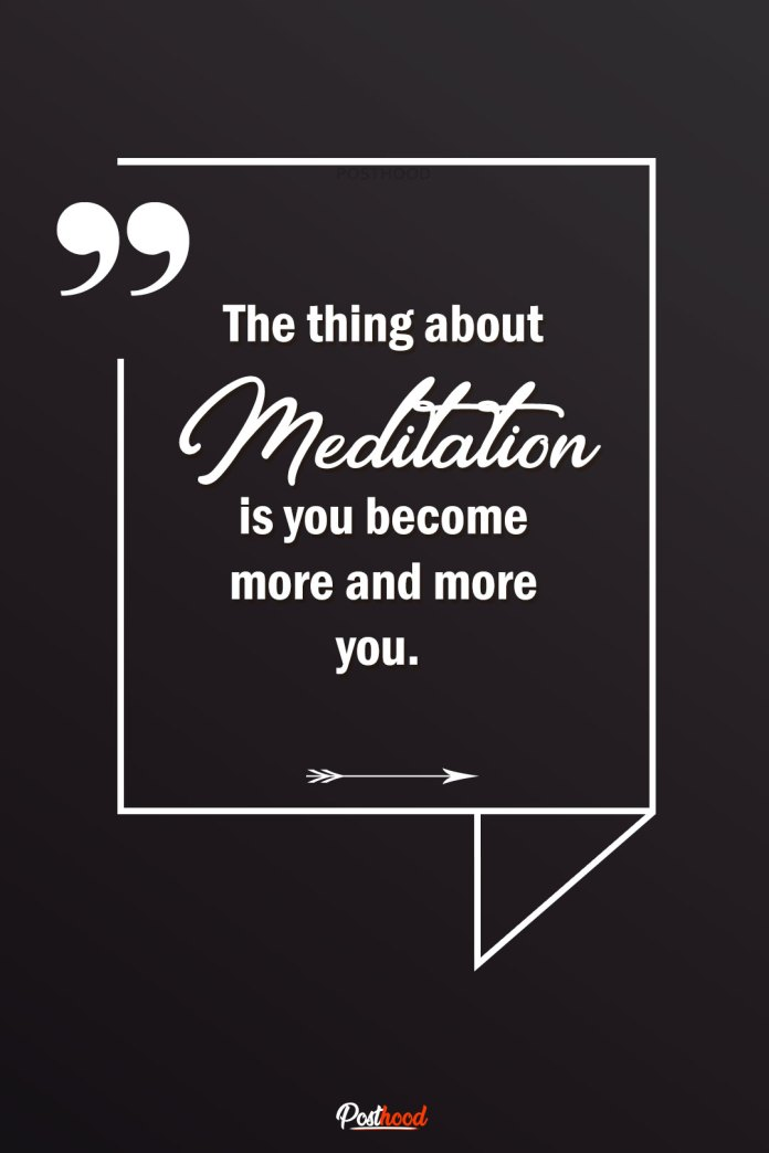 Enjoying reading calming meditation quotes of Buddha with an inspiring story about learning meditation.