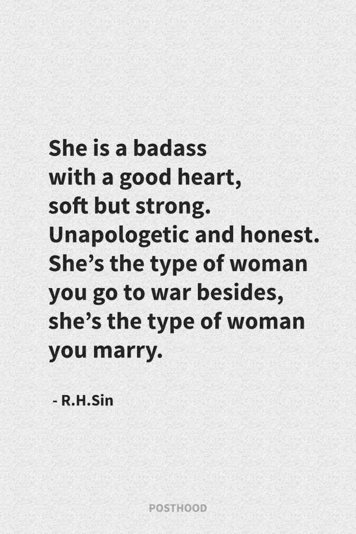 40 inspirational R.H.Sin quotes about strong women. Get a badass attitude when they hurt you and leave you. Best quotes about move on.
