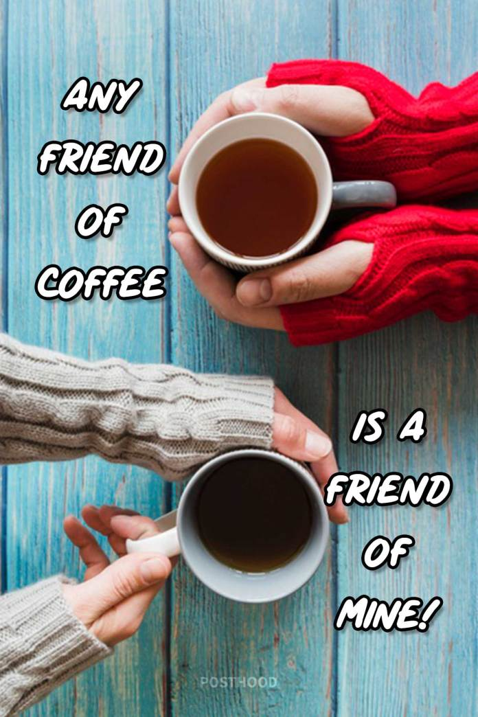 A great collection of funny coffee quotes to bring lots of joy and laughter among friends. Best quotes about coffee and friends.