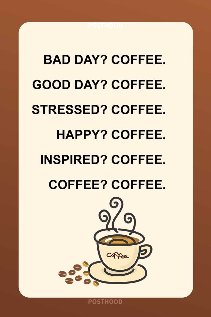 80 Best coffee quotes to fit your every mood swing. A great collection of humor coffee quotes that will go perfectly with your caffeinated vibes.
