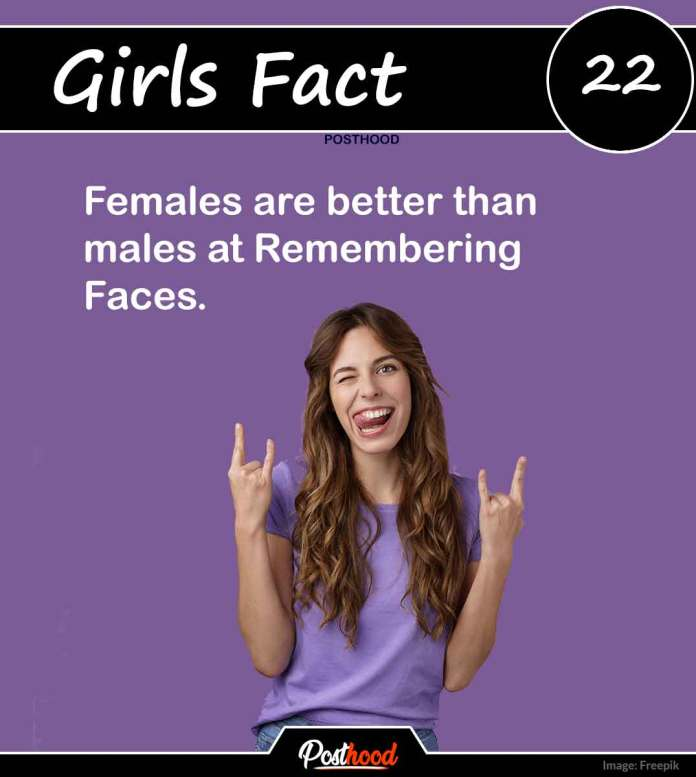 Girls tend to remember people more than boys. Yes! Know 80 more interesting psychological facts about girls' love and feelings.