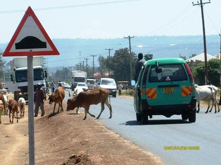 A matatu on Nairobi highway