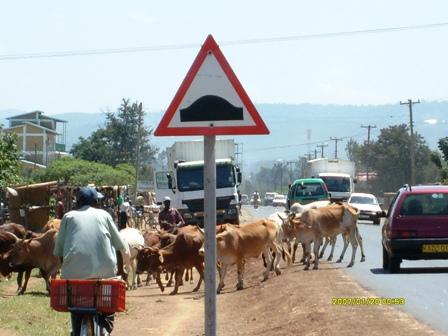 A bit of chaos on Nairobi highway