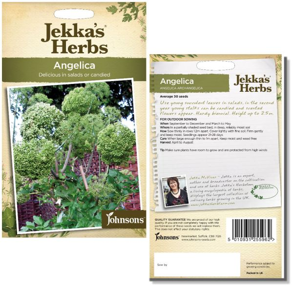 Jekka's Herbs - Angelica Seeds by Johnsons