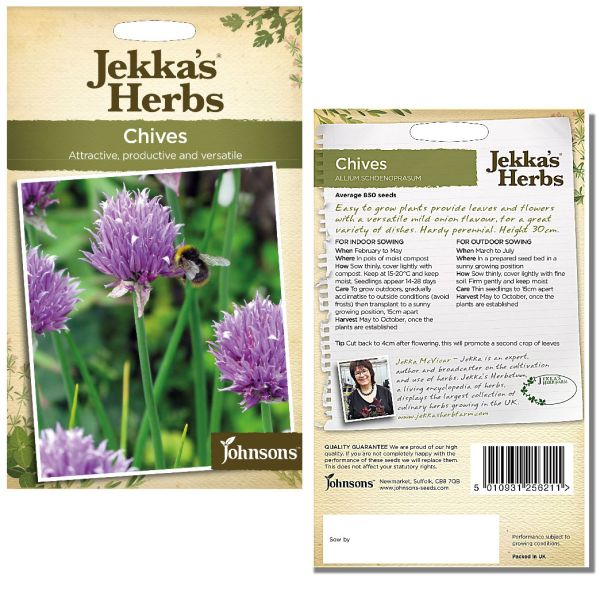 Jekka's Herbs - Chives Seeds by Johnsons