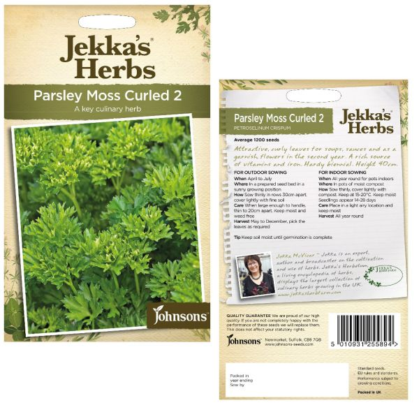 Jekka's Herbs - Parsley Moss Curled 2 Seeds by Johnsons