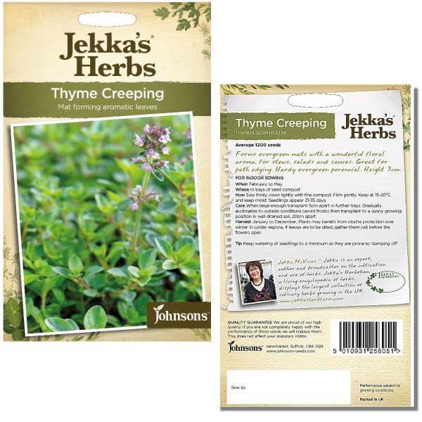 Jekka's Herbs - Thyme Creeping Seeds by Johnsons