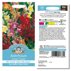 Mr. Fothergill's Seeds - Antirrhinum Snappy Tongue