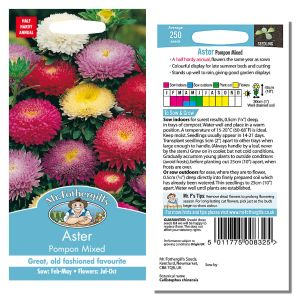 Mr. Fothergill's Seeds - Aster Pompon Mixed