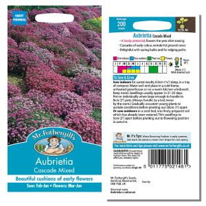 Mr. Fothergill's Seeds - Aubrietia Cascade Mixed