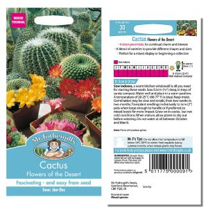 Mr. Fothergill's Seeds - Cactus - Flowers of the Dessert