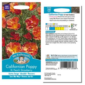 Mr. Fothergill's Seeds - Californian Poppy XL Peach Strawberry