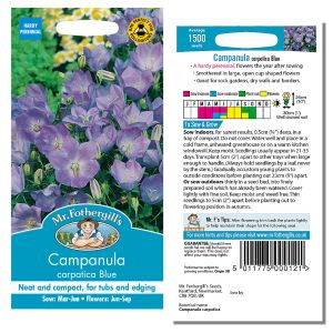 Mr. Fothergill's Seeds - Campanula carpatica Blue