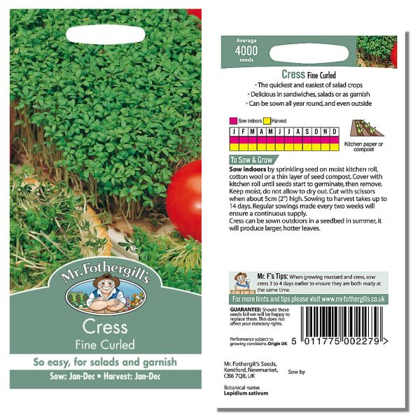Mr. Fothergill's Seeds - Cress Fine Curled