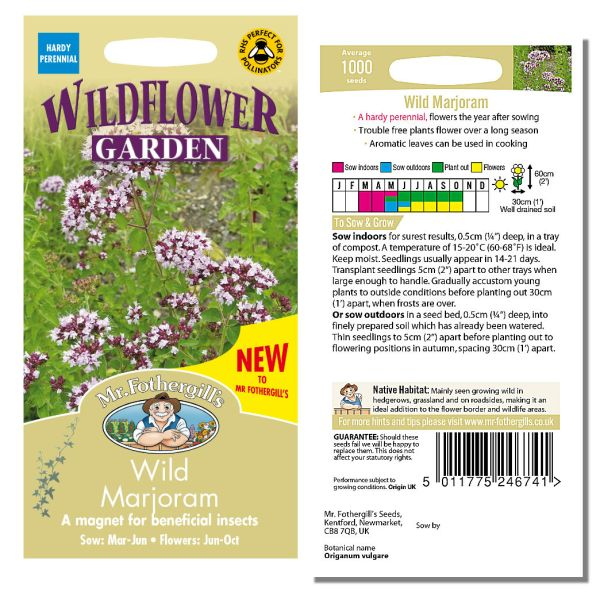 Mr. Fothergill's Seeds - Wildflower Garden - Wild Marjoram
