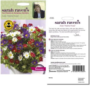 Sarah Raven's Aster 'Palette Mixed' Seeds by Johnsons