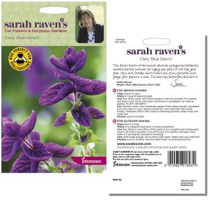 Sarah Raven's Clary 'Blue Denim' Seeds by Johnsons