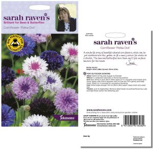 Sarah Raven's Cornflower 'Polka Dot' Seeds by Johnsons