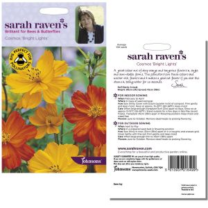 Sarah Raven's Cosmos 'Bright Lights' Seeds by Johnsons