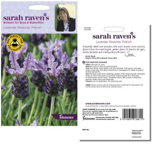 Sarah Raven's Lavender Stoechas 'French' Seeds by Johnsons