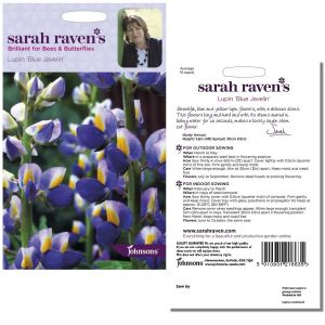 Sarah Raven's Lupin 'Blue Javelin' Seeds by Johnsons