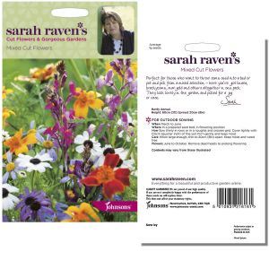 Sarah Raven's Mixed Cut Flower Seeds by Johnsons