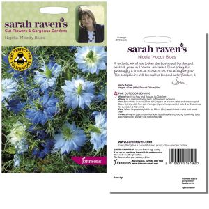 Sarah Raven's Nigella 'Moody Blues' Seeds by Johnsons