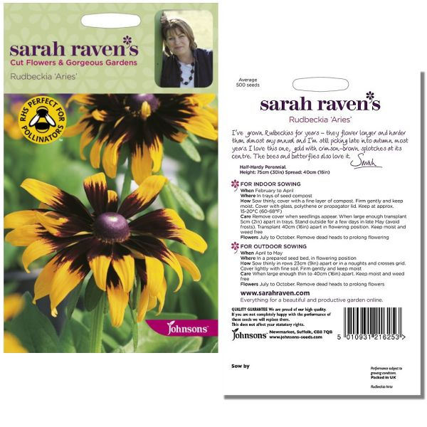 Sarah Raven's Rudbeckia 'Aries' Seeds by Johnsons