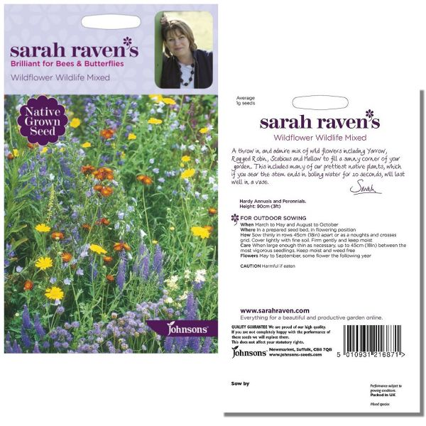 Sarah Raven's Wildflower Wildlife Mixed by Johnsons