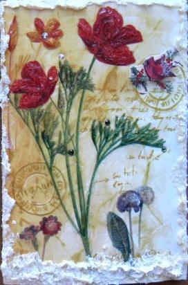 Marianne Bishop, Textured Snow Flowers