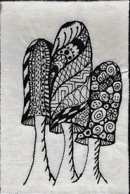 Christine Bostock, R24, Zentangle 1