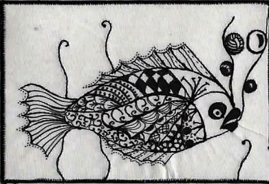 Christine Bostock, R24, Zentangle 5