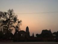 Watching the sunset over Wat Ratburana