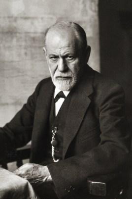Freud, brooding.