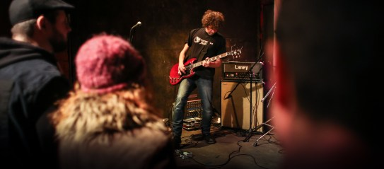 Markonish at Geno's in March during an album release party for The Last Neanderthal. (Photo by Ben McCanna)