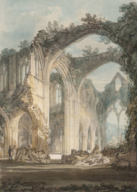 The Chancel and Crossing of Tintern Abbey, Looking towards the East Window 1794 by Joseph Mallord William Turner 1775-1851