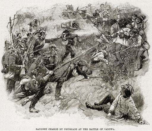 Bayonet Charge by Prussians at the Battle of Sadowa