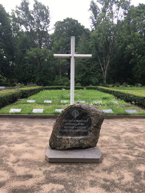 kobrin-kuldiga-cemetery-forest-brothers-memorial-front-view