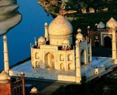 Rare angle of Taj Mahal