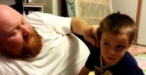 Dad Pulls off His Kid's Ear – Prank