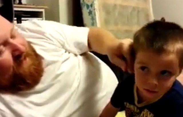 Dad Pulls of His Kid's Ear - Prank
