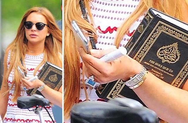 Lindsay Lohan Holding Holding Quran