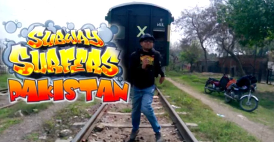 Subway Surfers Pakistan - Pakistani Guys Take The Mobile Game to Real Life