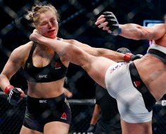 Ronda Rousey Knockout by Holly Holm in Her First MMA Loss - Video